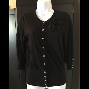 Nordstrom cardigan with jeweled buttons.